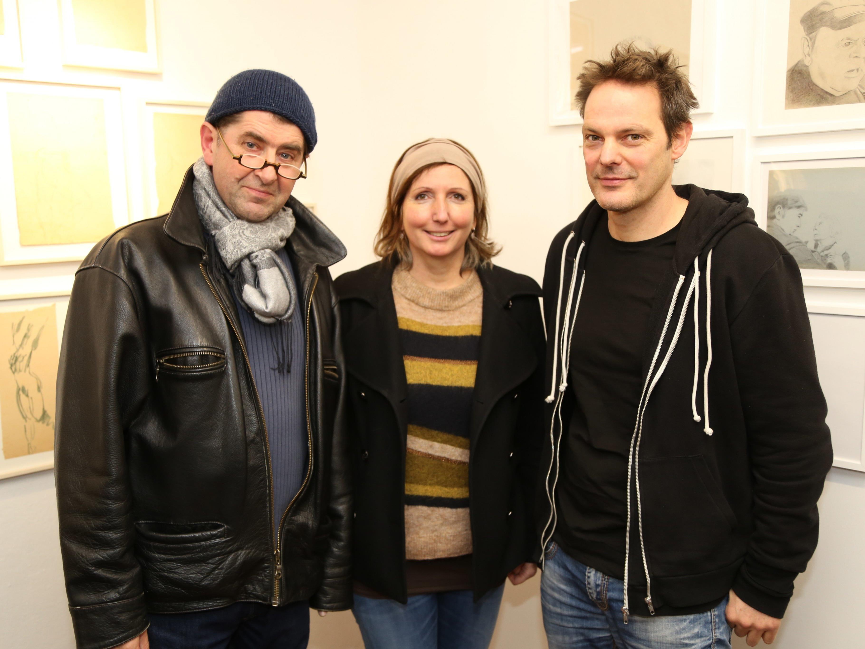 Künstler und Kurator Harald Gfader stellte unter anderem gemeinsam mit Christine Lingg und Peter Wehinger aus.