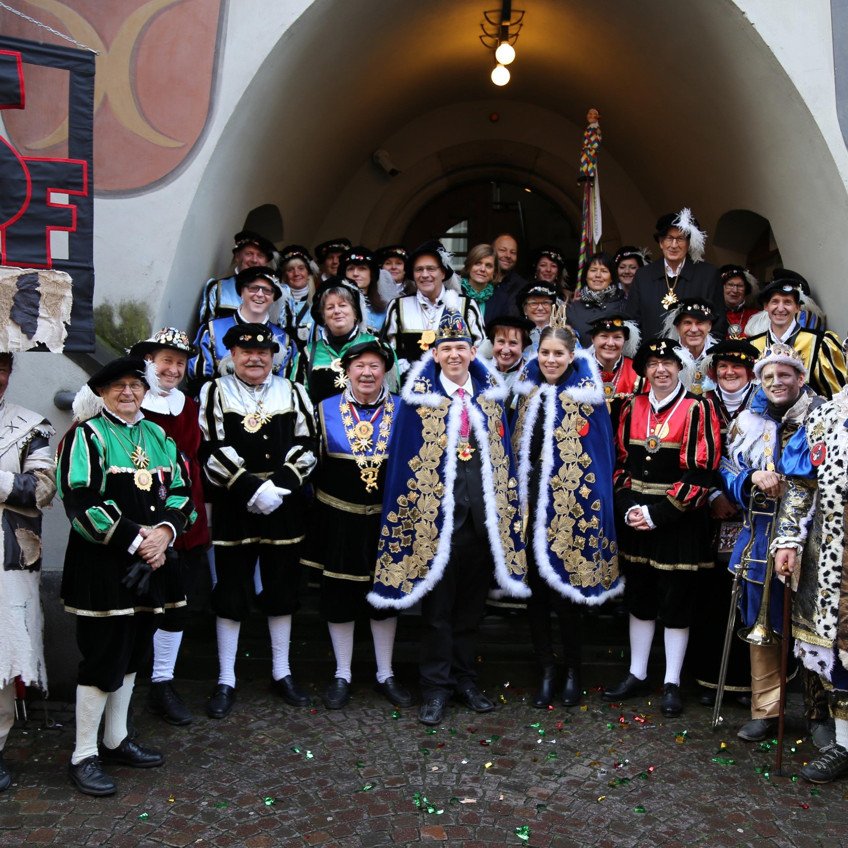 Pünktlich um 11:11 Uhr startete der Fasching in der Montfortstadt.