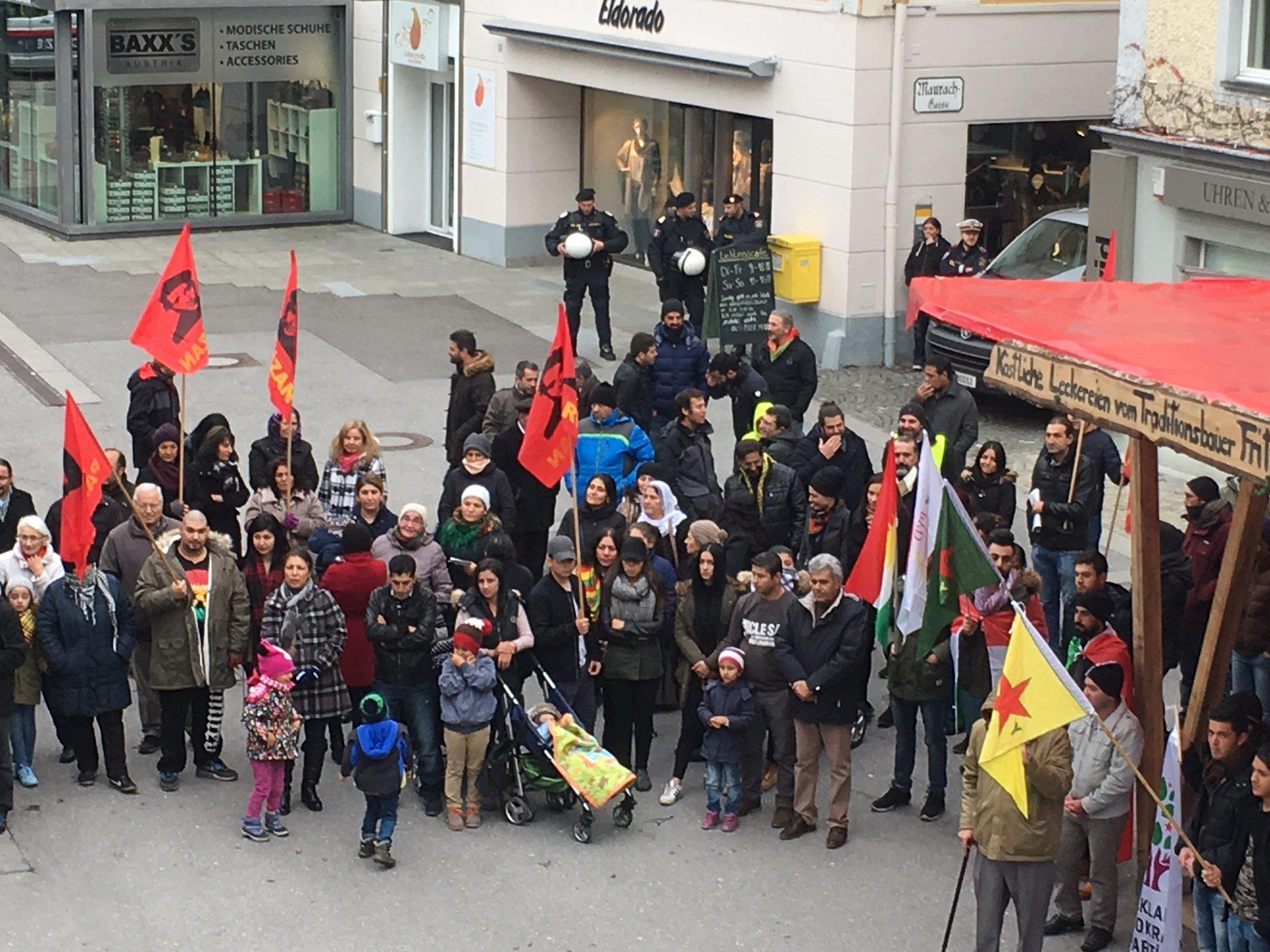 Demonstration in Bregenz.
