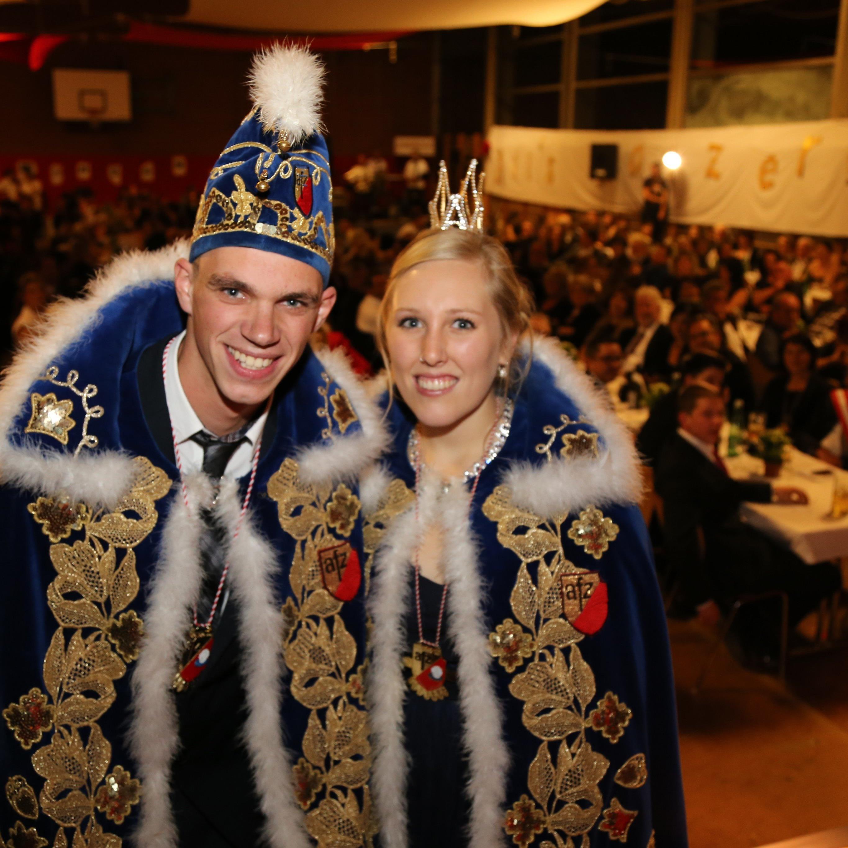 Das neue Prinzenpaar: Philipp Steiner und Christi- na Rohrer.