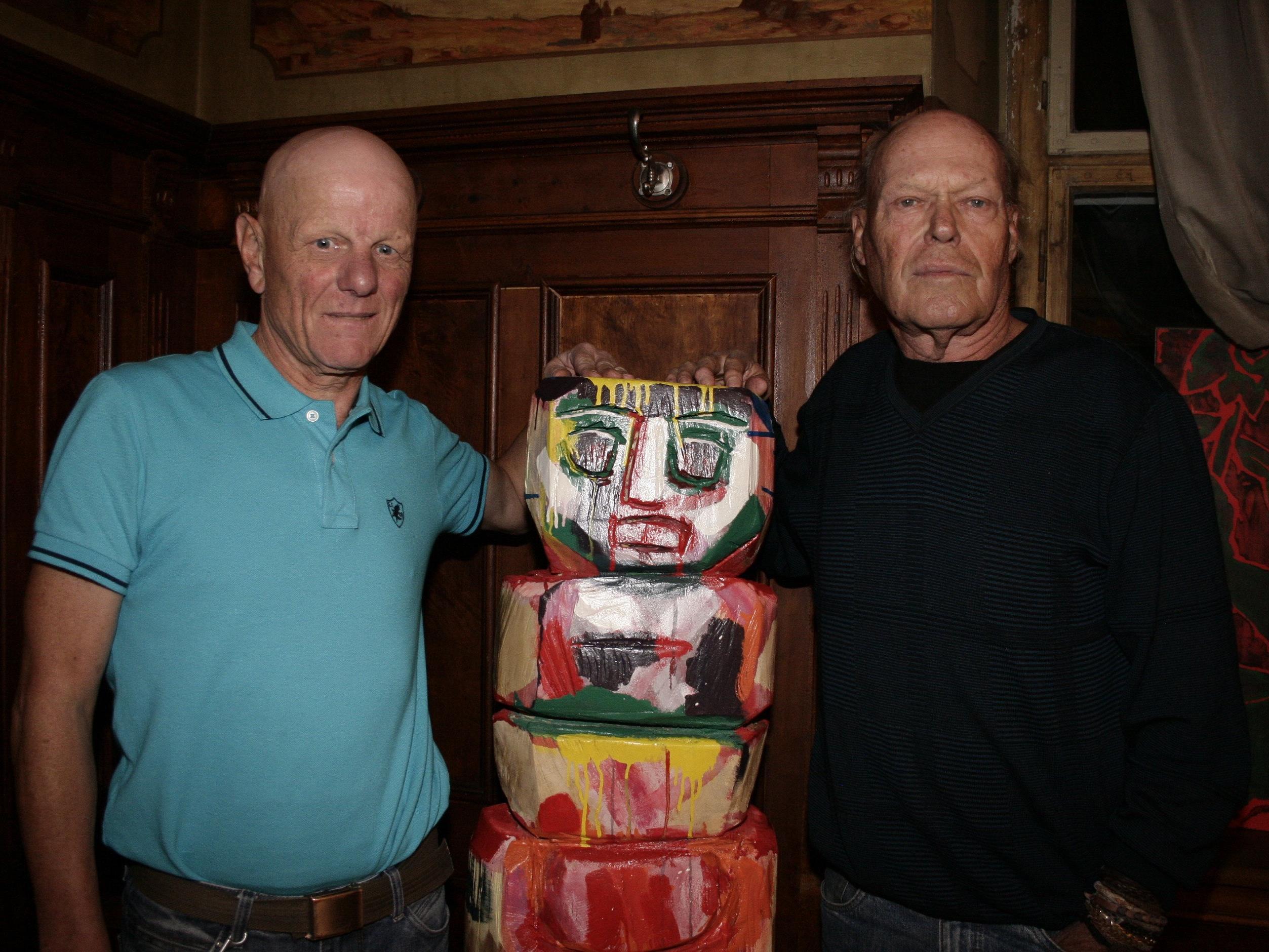 Die Vorarlberger Künstler Werner Geiger und Gernot Riedmann (v.l.).