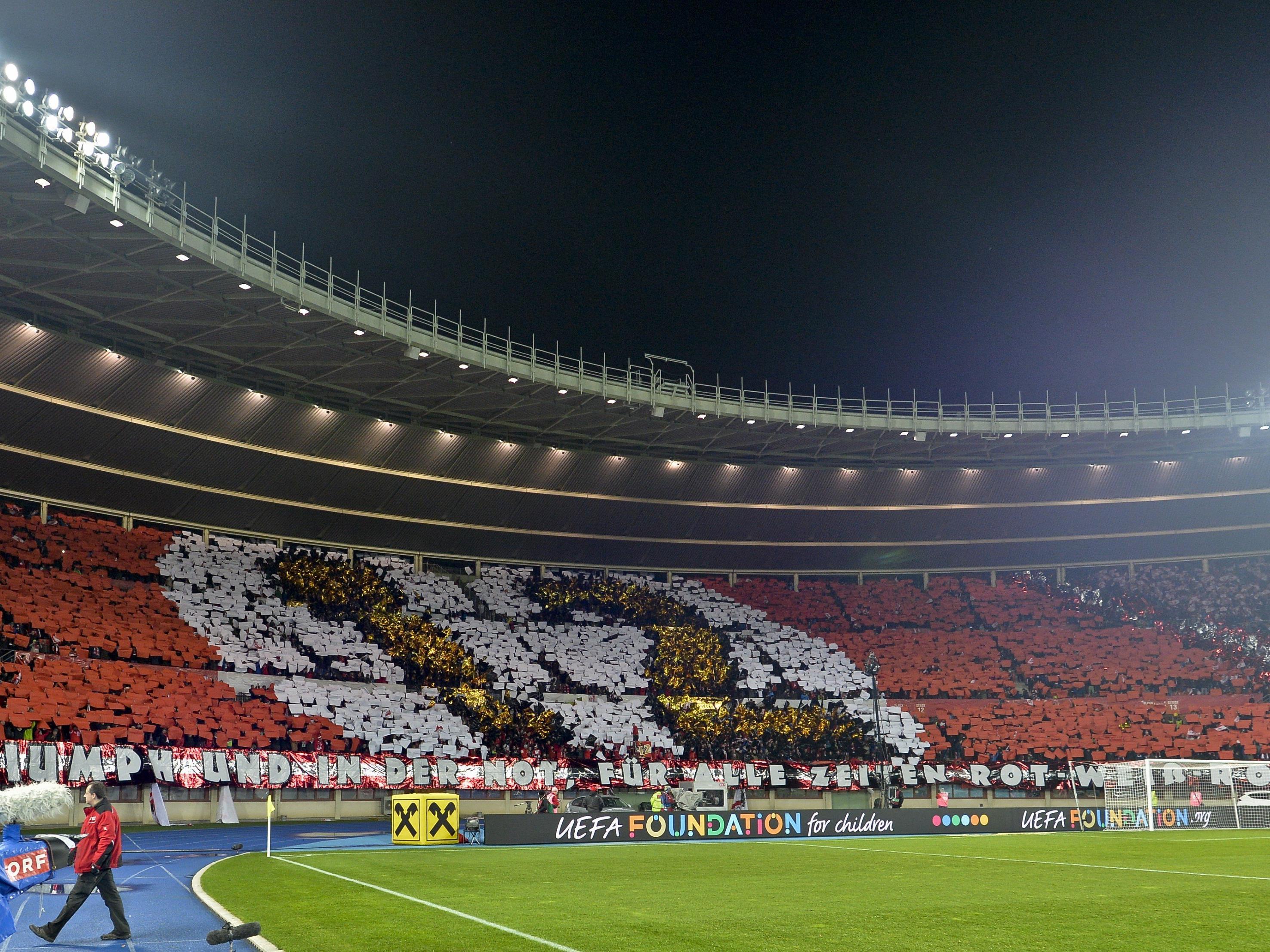 Das Spiel gegen Moldau wird im Happel-Stadion stattfinden