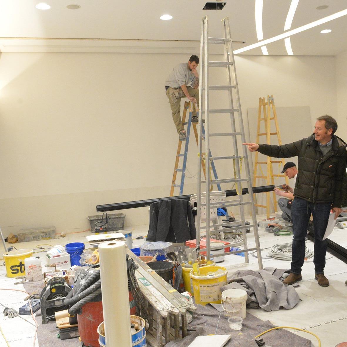 Bis zur offiziellen Eröffnung am 8. Dezember wird der Innenausbau komplettiert.