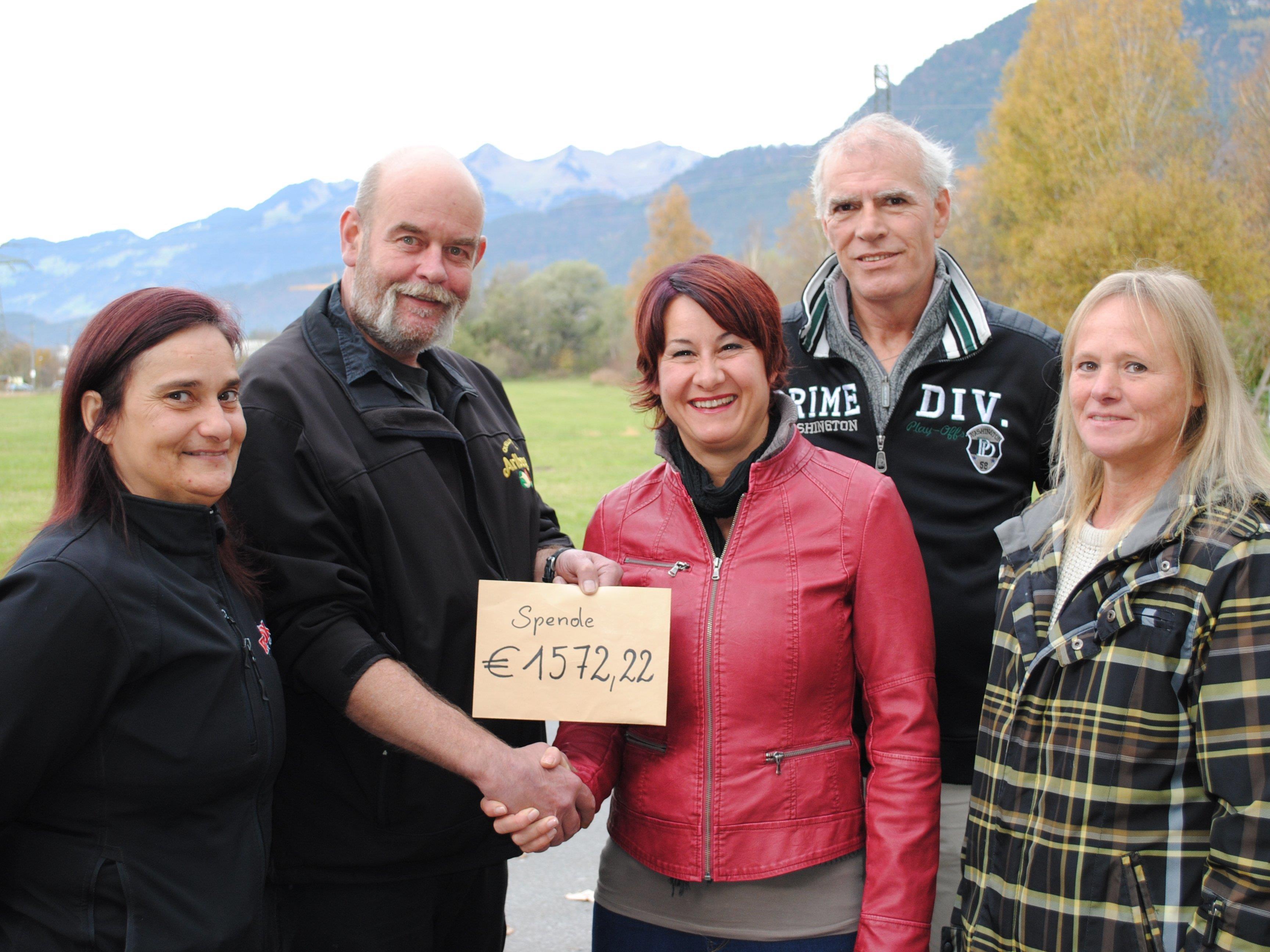 v.Li.: Eveline Gasperi, Günter Gasperi, Susanne Marosch, Hubert Wenter und Herta Wenter