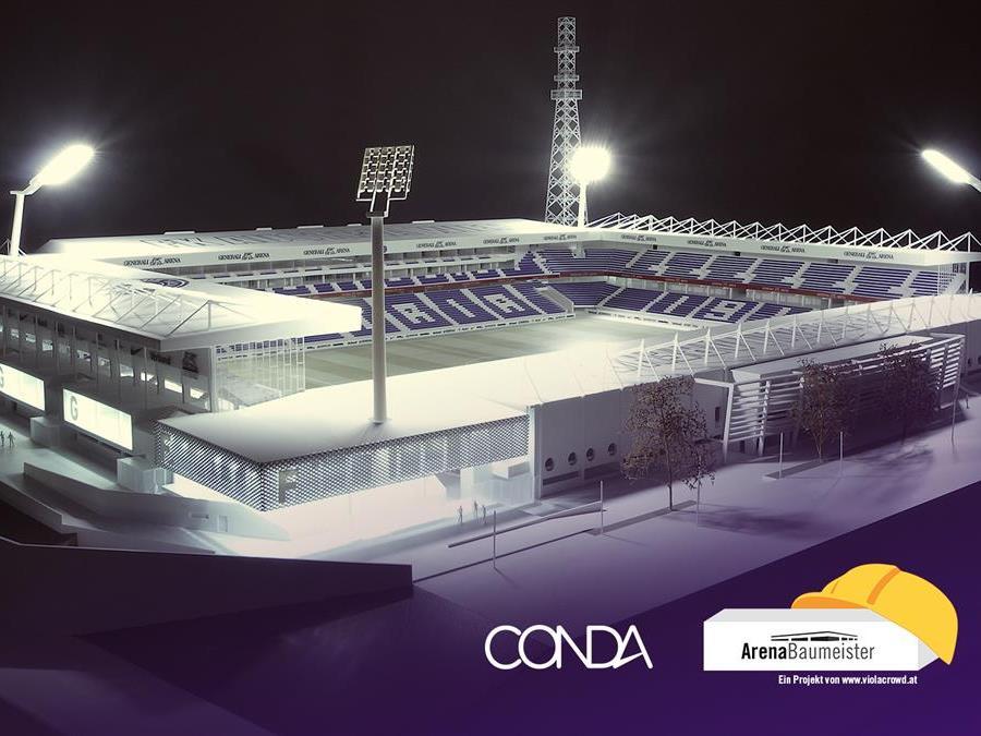 Die Austria bindet die Fans in den Neubau der Generali-Arena mit ein.
