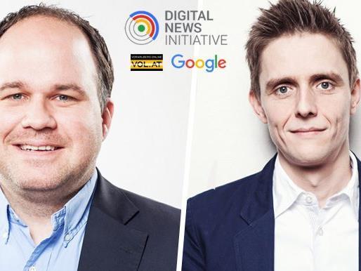 Die Russmedia Geschäftsführer Gerold Riedmann und Georg Burtscher.