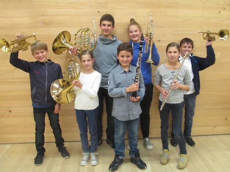 Erfolgreicher Nachwuchs des Musikvereins Langenegg.