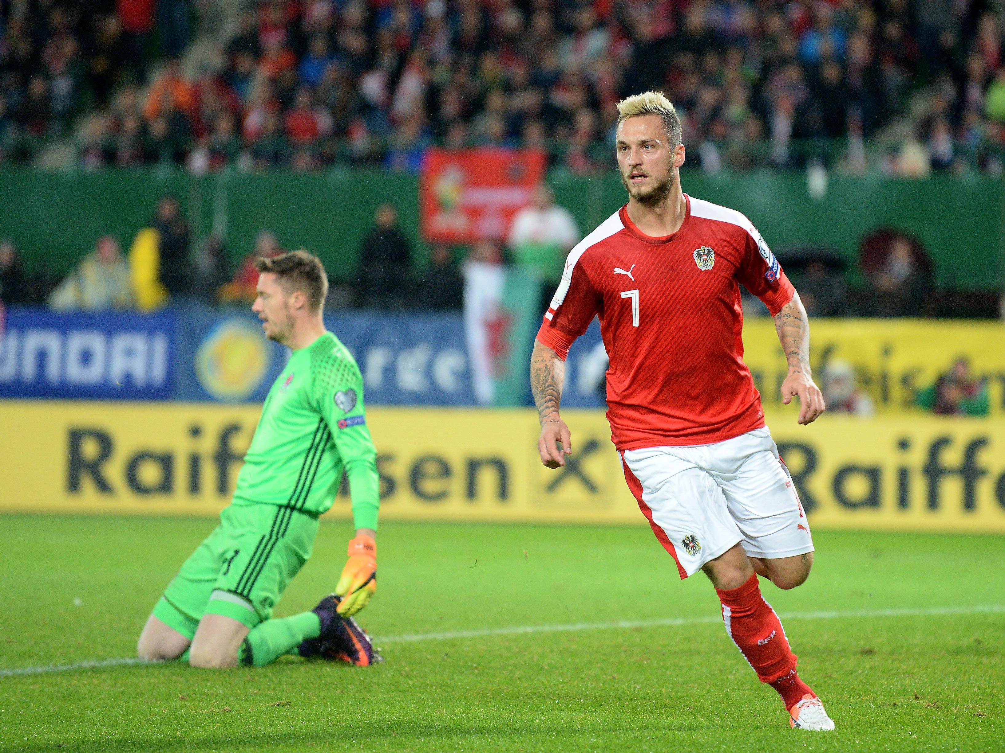 Marko Arnautović und Österreich spielen in der WM-Qualifikation gegen Irland.