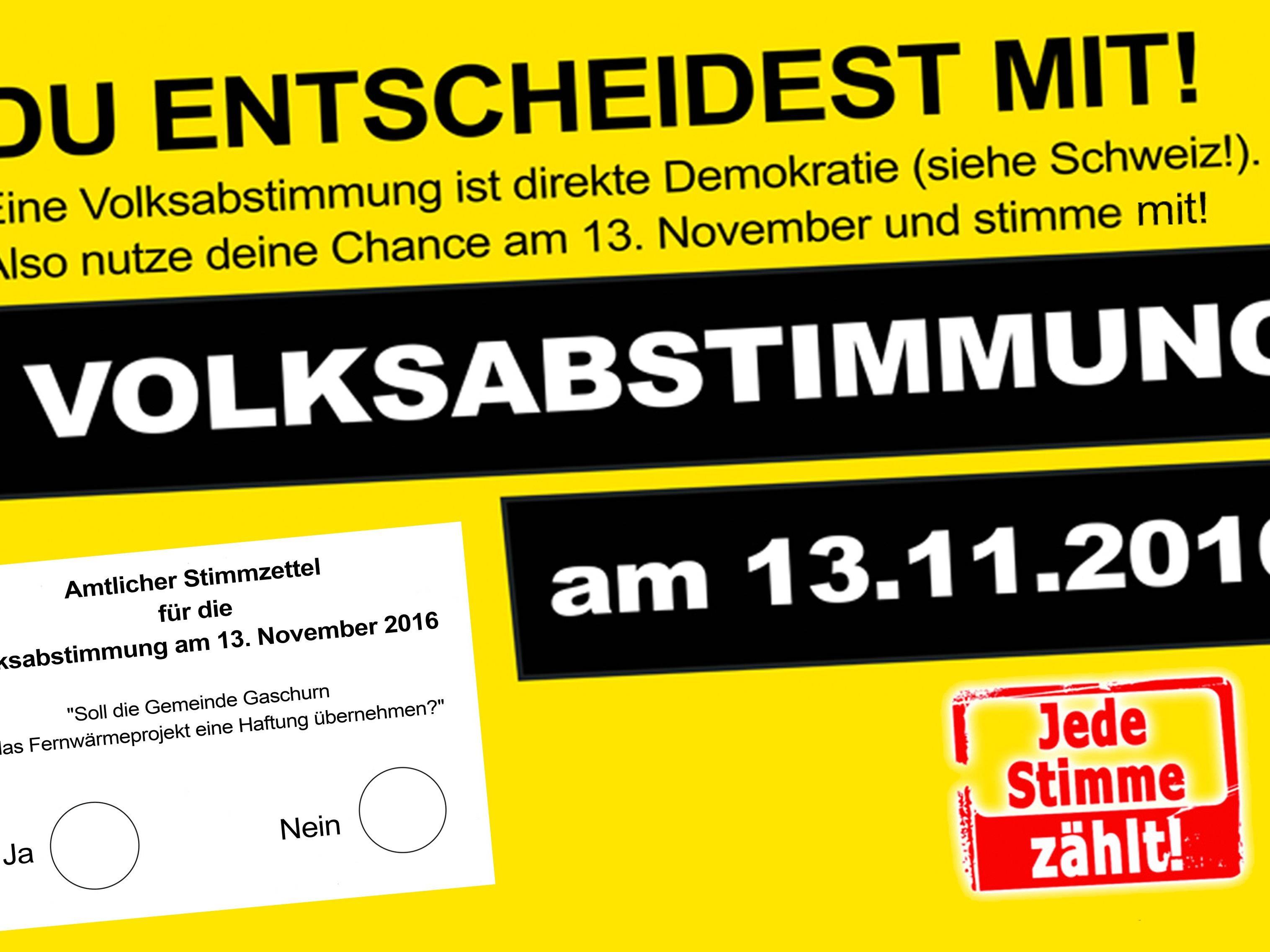 Volksabstimmung inGaschurnPartene
