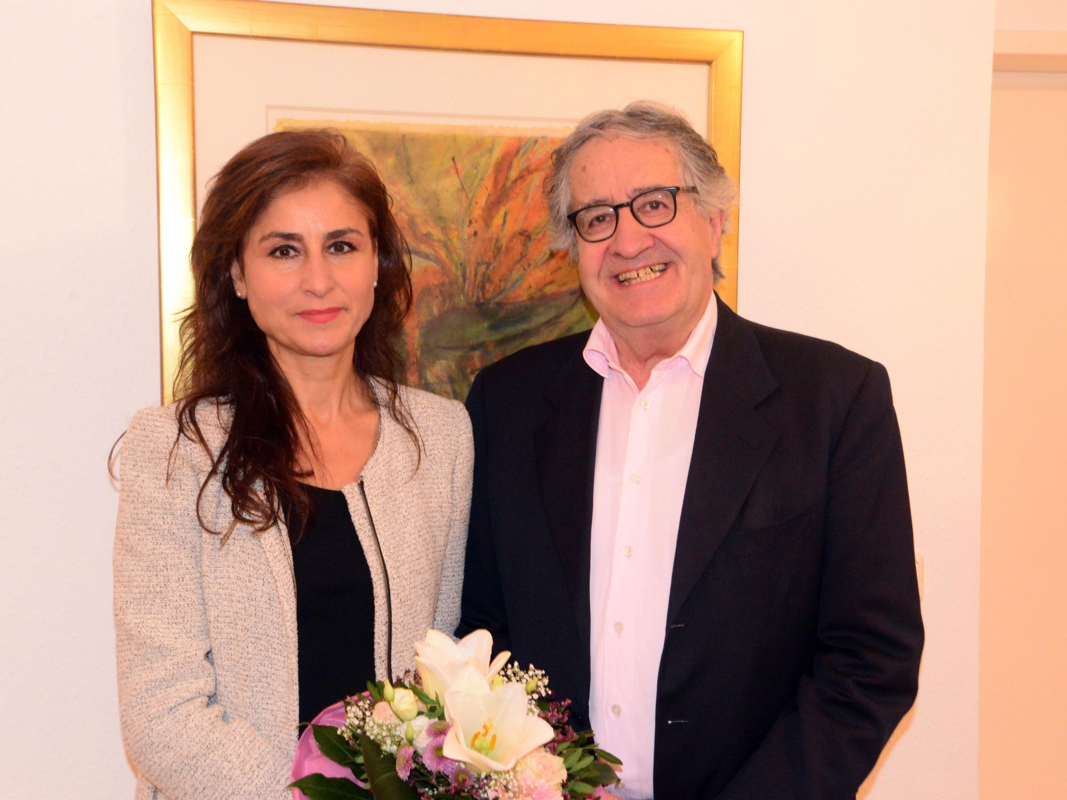 Internist Egon Humpüeler übergab seine Praxis in Bregenz an Univ.Prof. Dr. Yildiz Yildiz.