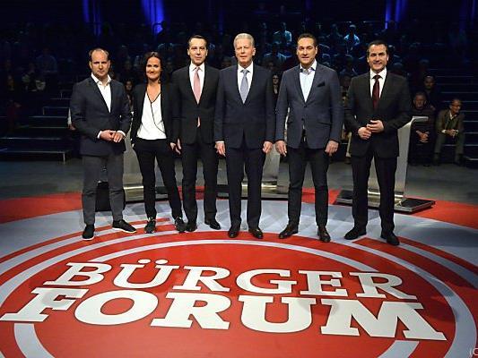 """Die Parteichefs im """"Bürgerforum"""""""