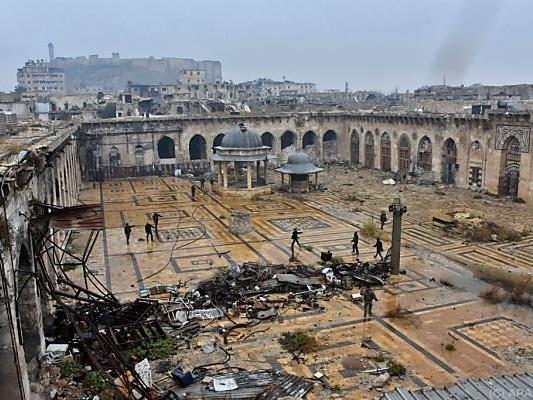 Das einst schöne Aleppo ist heute eine zerstörte Stadt