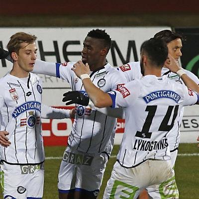 Viel Grund zu Jubeln bei den Spielern von Sturm Graz