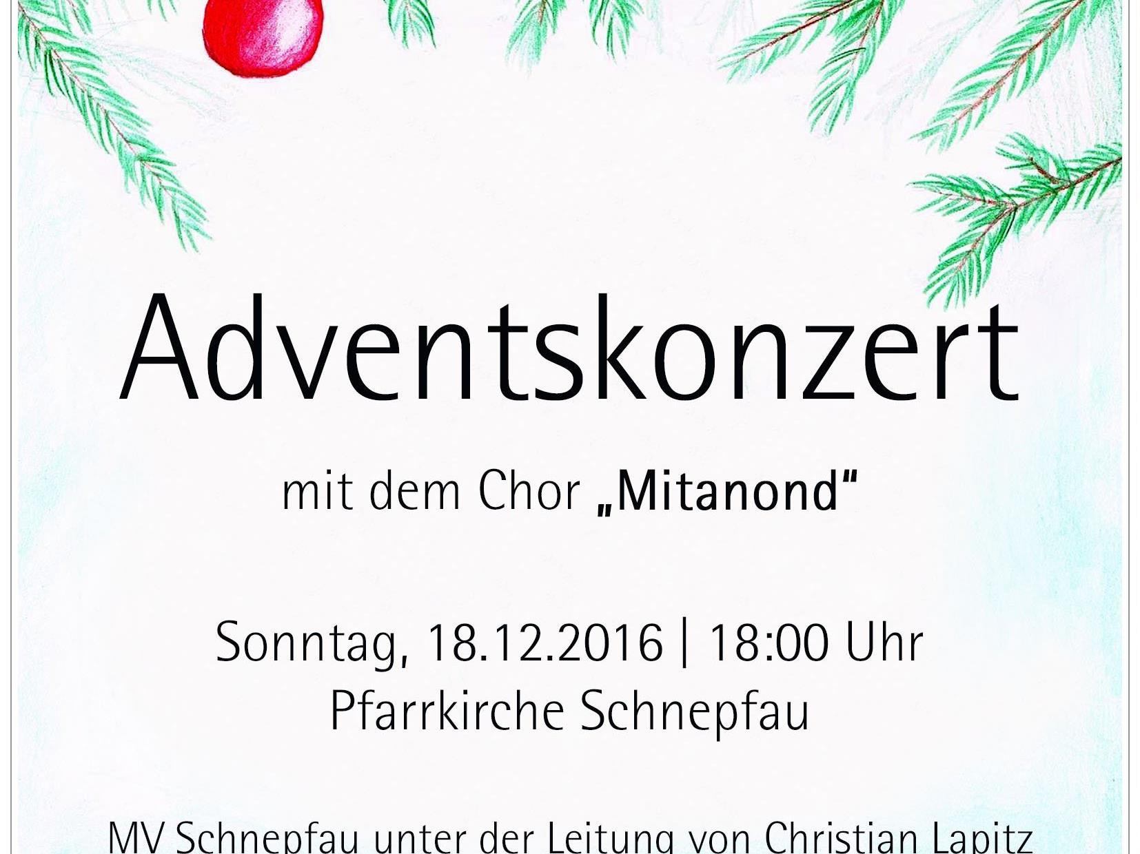 Adventskonzert MV Schnepfau