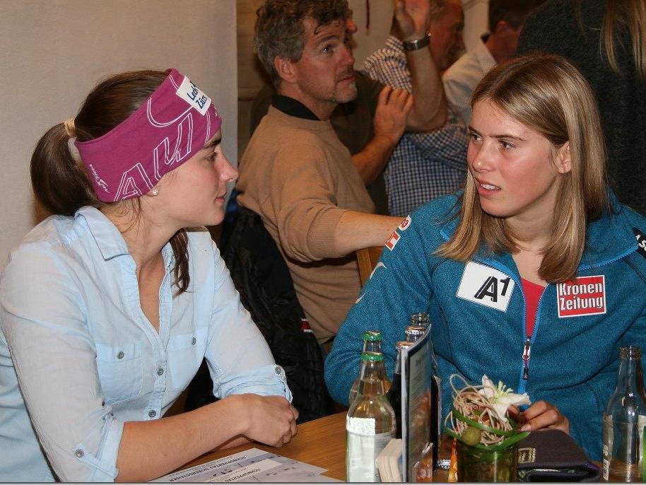 Katharina Liensberger (r.) wurde Achte