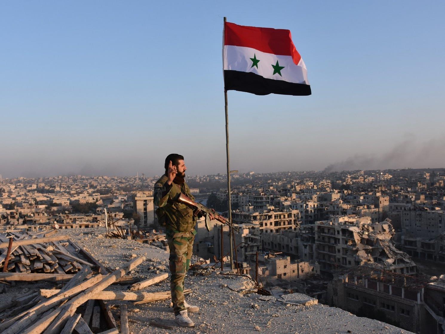 Großstadt in Syrien kurz vor vollständiger Einnahme durch Assad-Truppen.