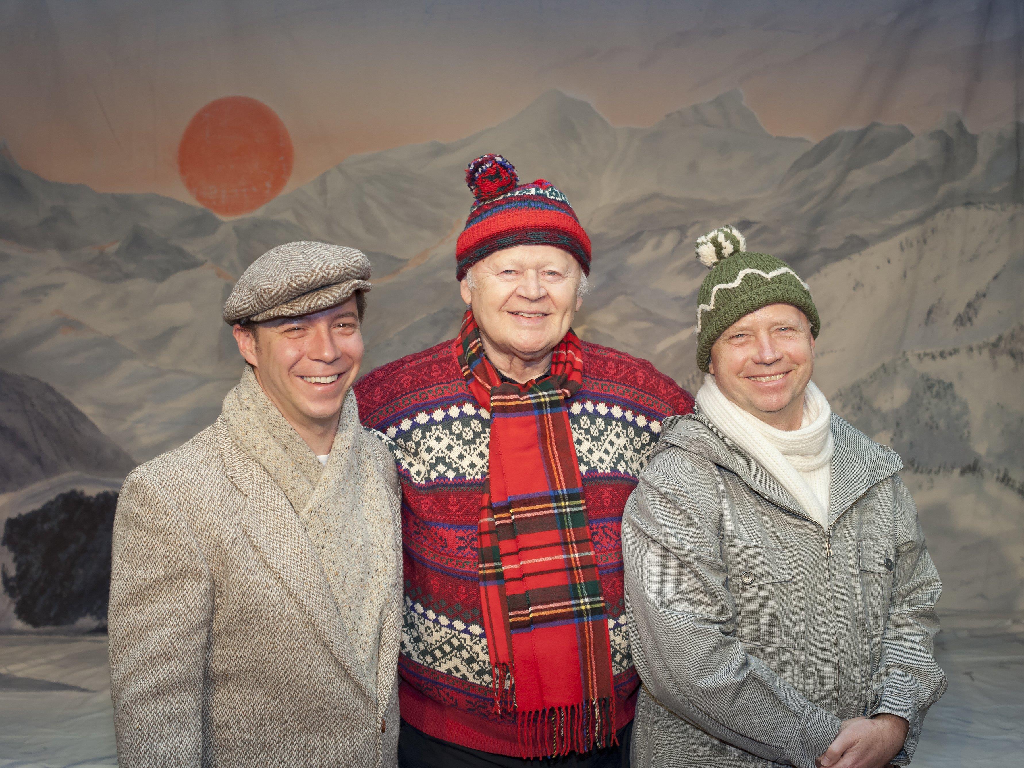 """Die """"Drei Männer im Schnee"""" (von links Simon Rösch, Dieter Ballmann, Michael Kausch)."""