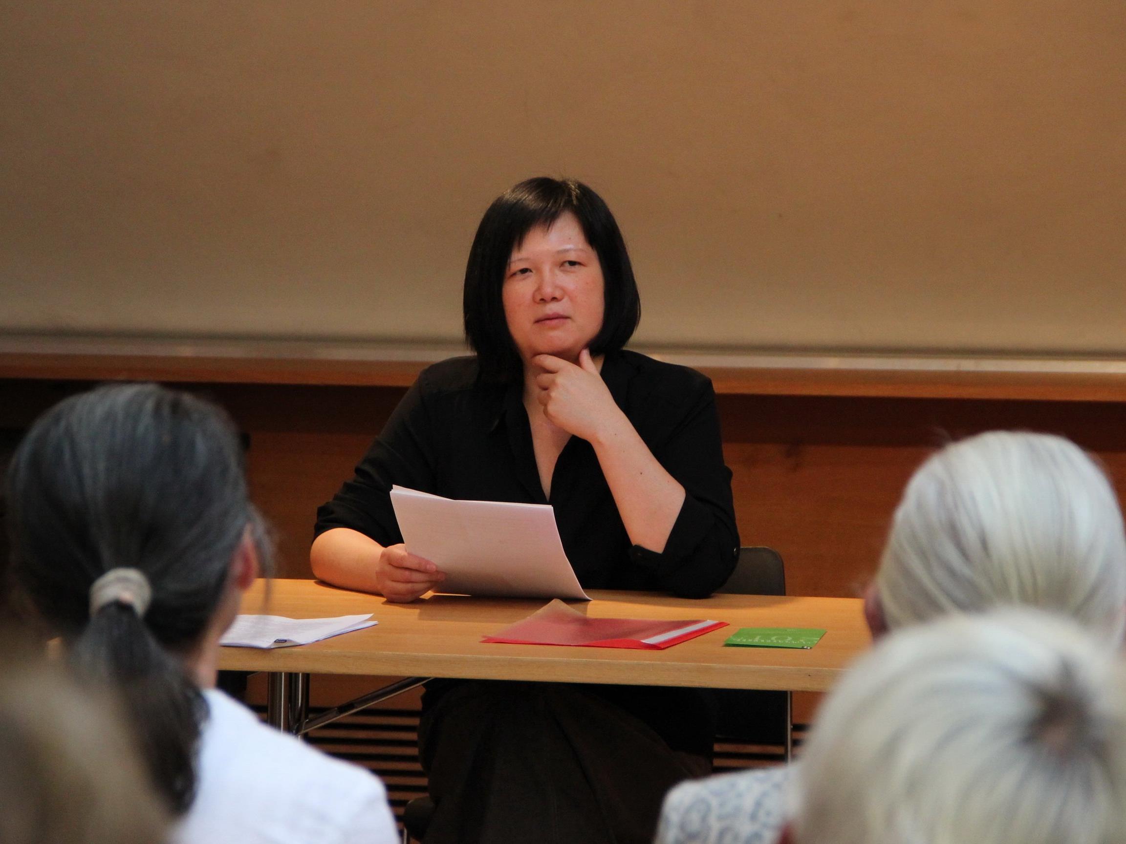Die aktuelle Preisträgerin Que Du Luu bei ihrem Besuch in Hohenems im Juni 2015.