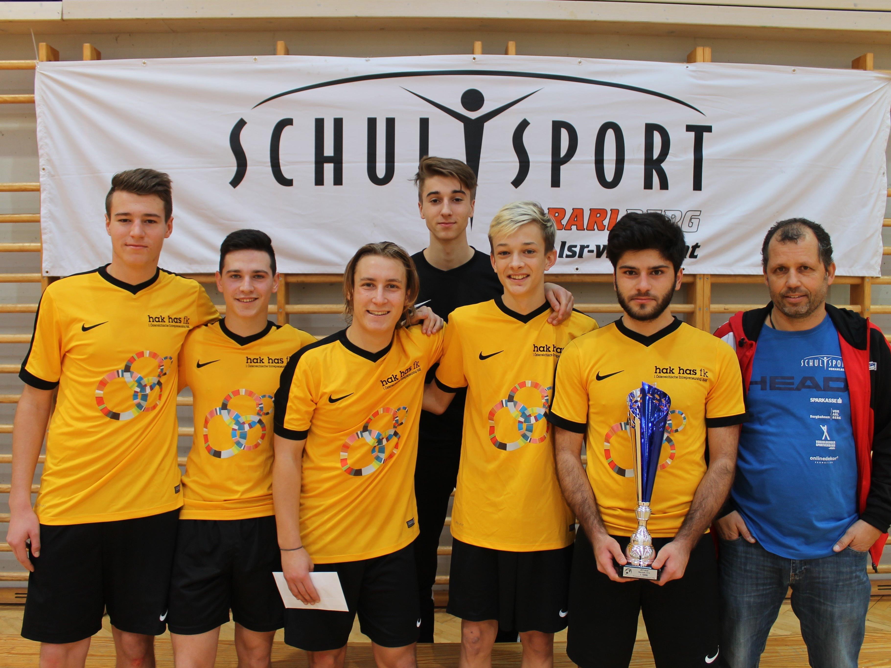 HAK HAS Feldkirch wurde wieder Futsal Landesmeister der Schulen