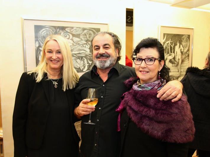 Drei Vorderländer Künstler in einer Ausstellung vereint: Karin Bolter, Walter und Ruth Schnetzer.