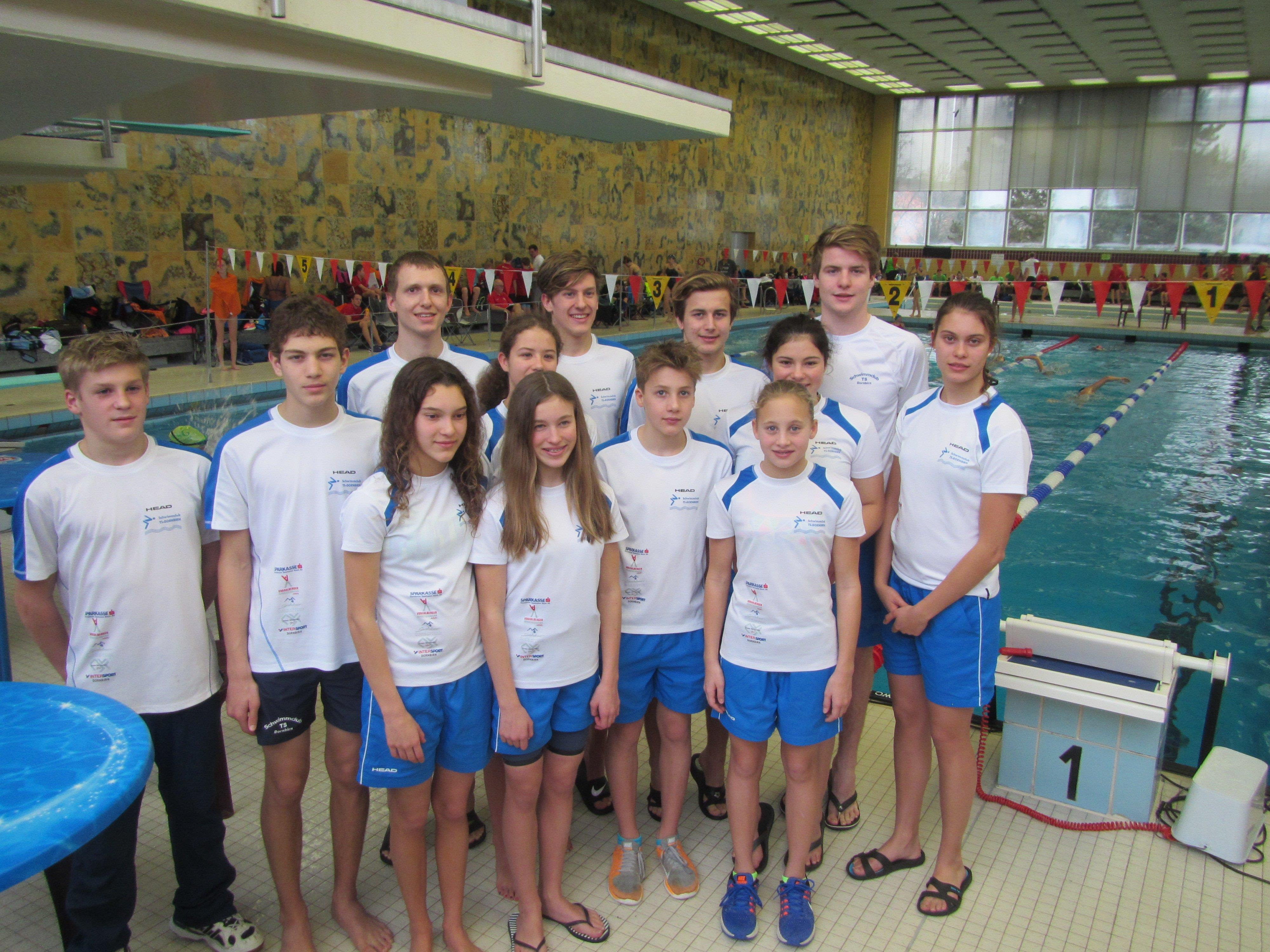 Team des Schwimmclubs TS Dornbirn