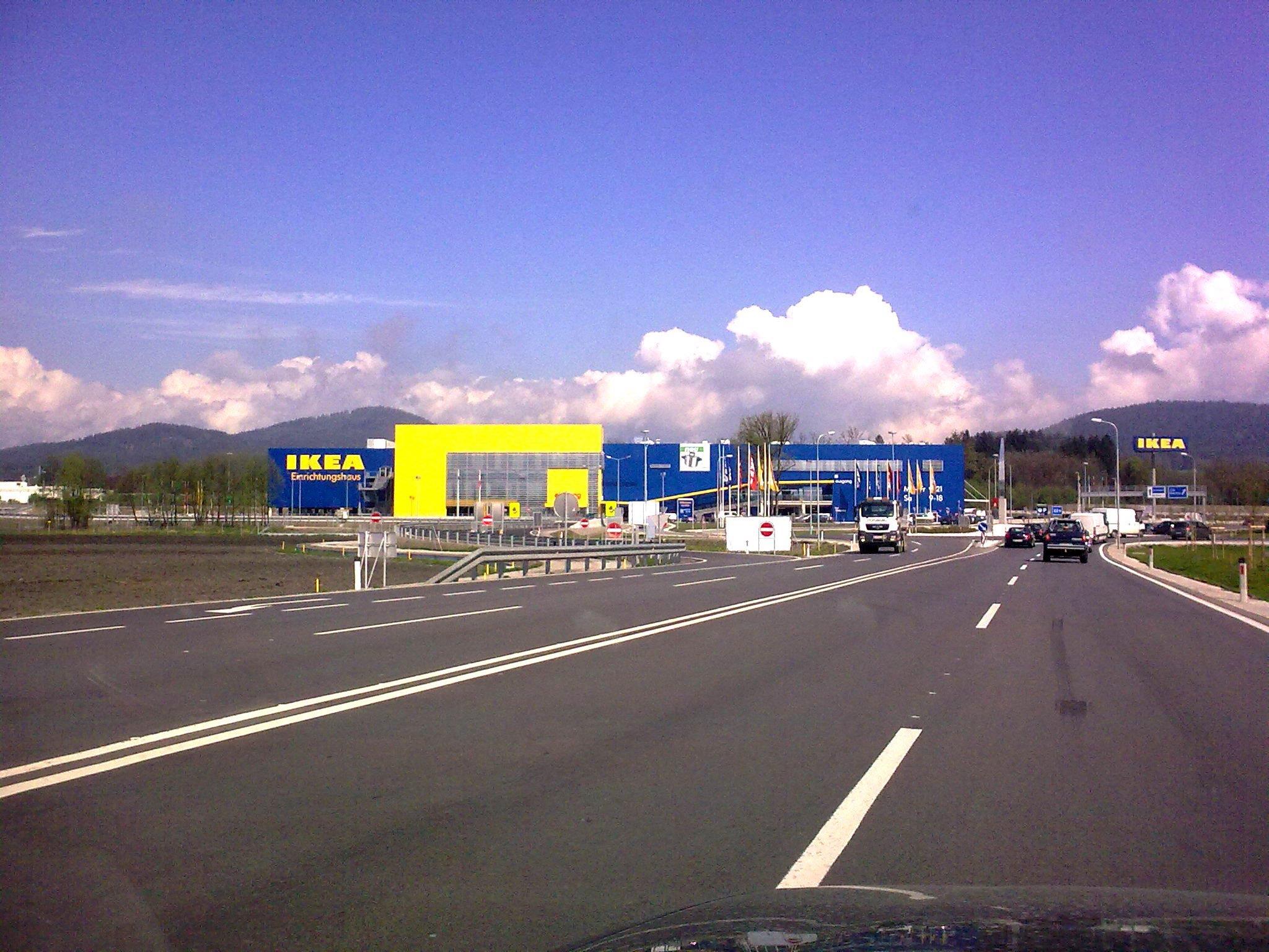 Nur in Vorarlberg ist Möbelriese Ikea in Österreich noch nicht vertreten (im Bild Ikea Klagenfurt).