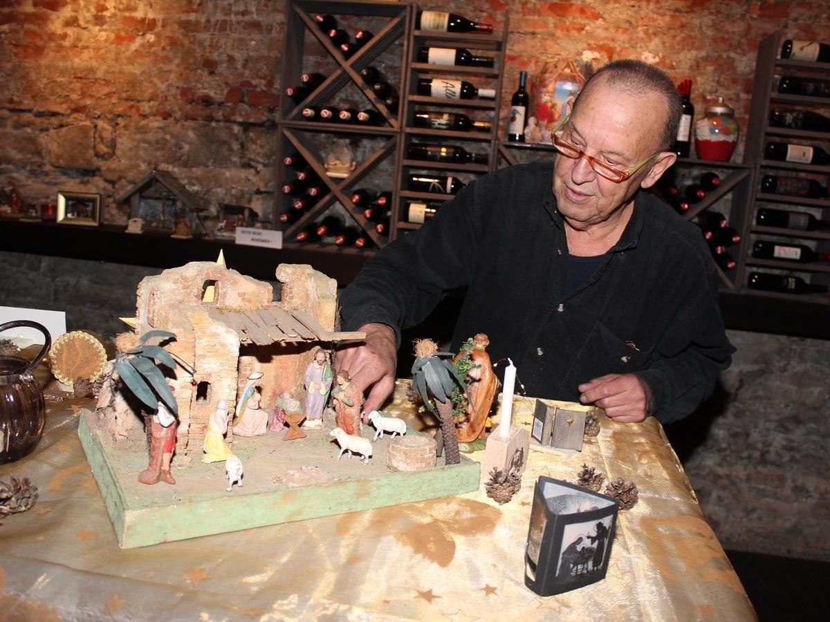 Rudolf Unterkircher präsentierte eine Auswahl aus seiner Krippenwerkstatt.