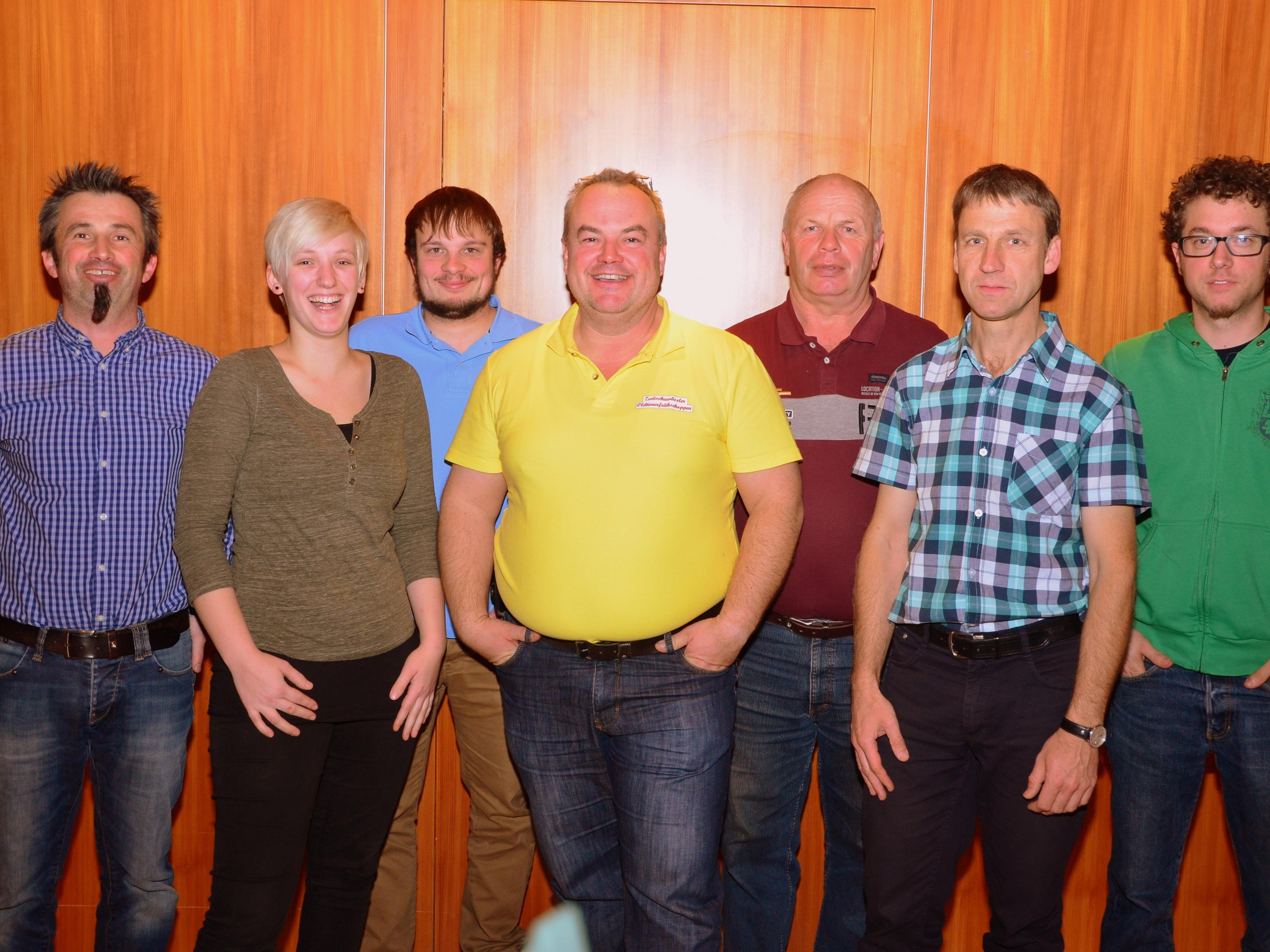 Vorstand - von links nach rechts - Jürgen Bachmann, Sabrina Koch, Alexander Röthlin, Johannes Welte, Norbert Bechtold, Helmut Lampeitl, Daniel Bachmann