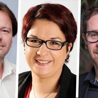 Das neue Führungsteam des SWV (v.l.): Christian Vögel, Veronika Keck, Robert Bedjanic.