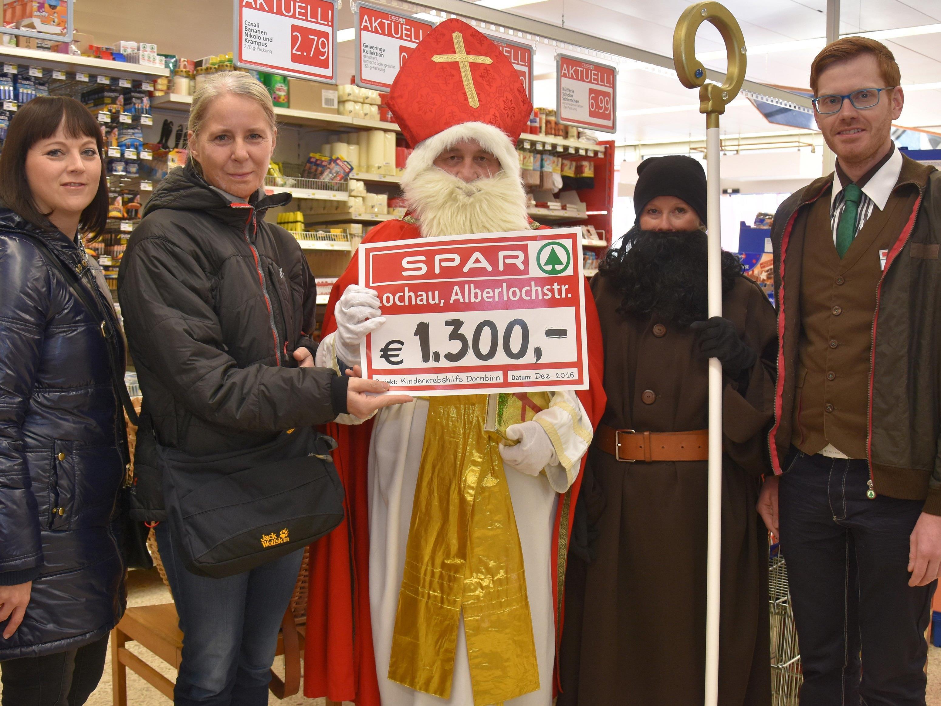 Spendenübergabe SPAR-Supermarkt Lochau