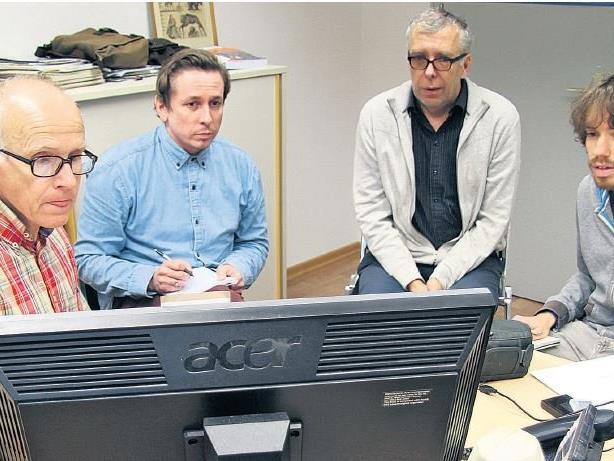 Gemeinsam mit Tobias Giesinger (VGT) sichtete WANN & WO das Material bei Dr. Pius Fink und Dr. Bernhard Zainer.
