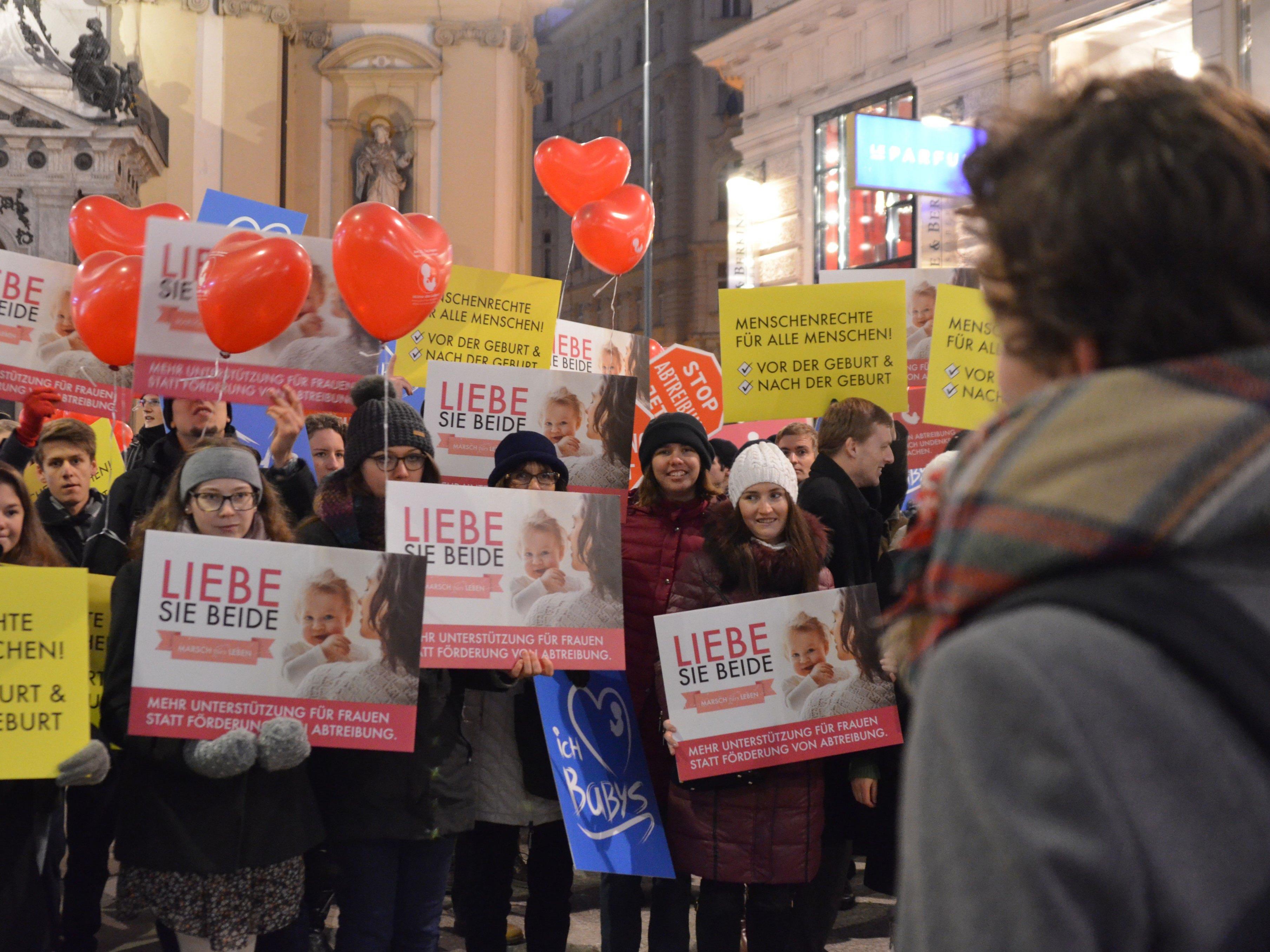 Für eine Modernisierung der Fristenregelung wurde in Wien demonstriert