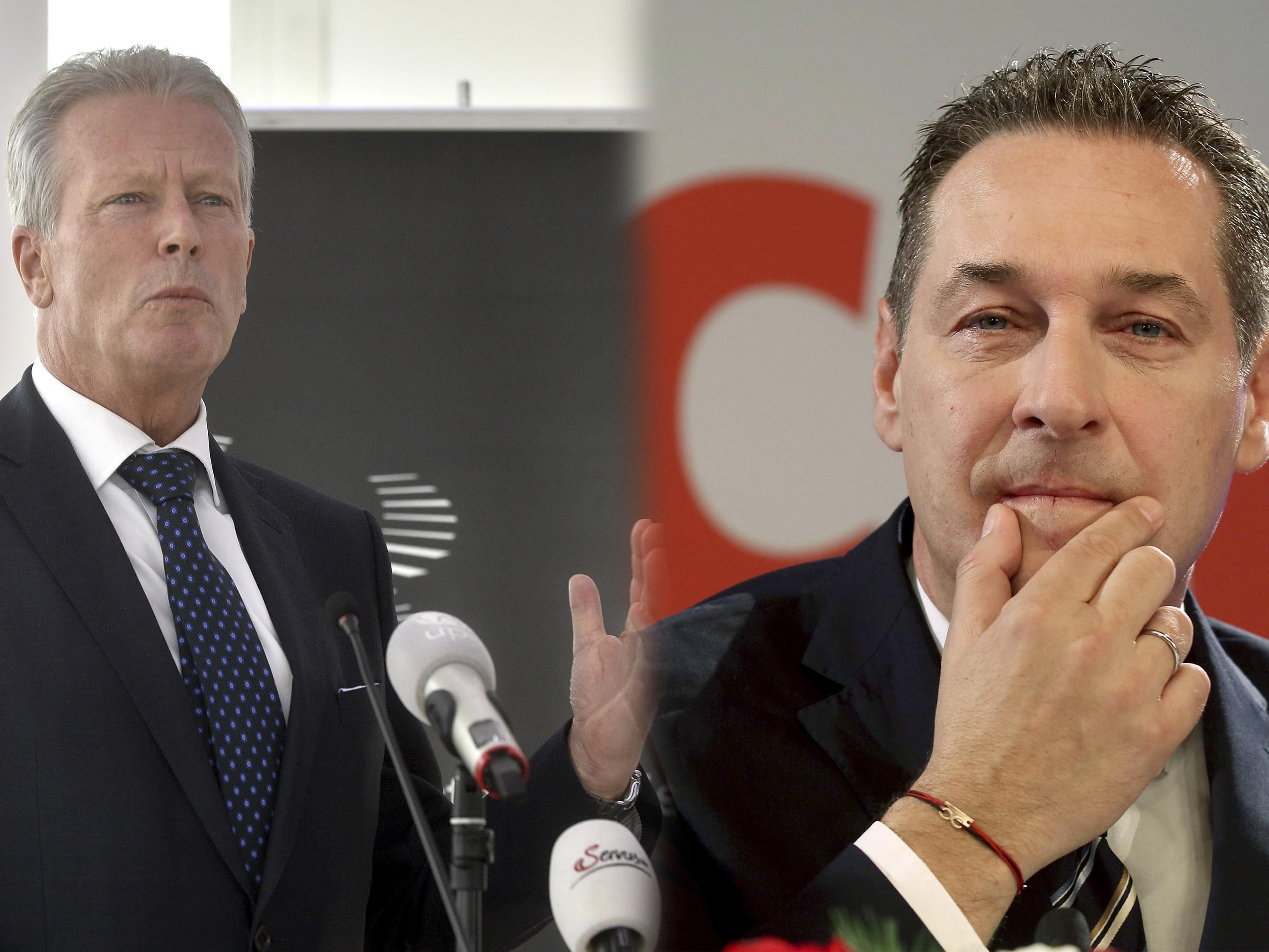 Rivalität zwischen Vizekanzler Mitterlehner und HC Strache