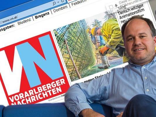 """Auf Initiative von VN-Chefredakteur Gerold Riedmann sind ab sofort URL's mit zwei Buchstaben auch in Österreich erlaubt. Damit wird aus """"vorarlbergernachrichten.at"""" nun""""vn.at""""."""