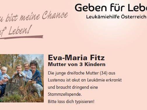 Die Familie von Eva-Maria Fitz hofft auf möglichst viele Teilnehmer bei der Typisierungsaktion
