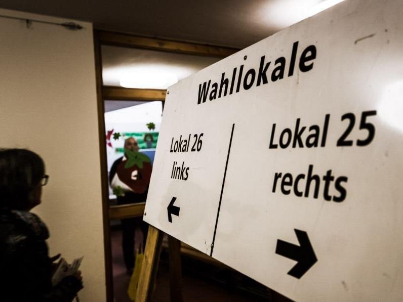 Die Öffnungszeiten der Wahllokale im Bezirk Dornbirn.