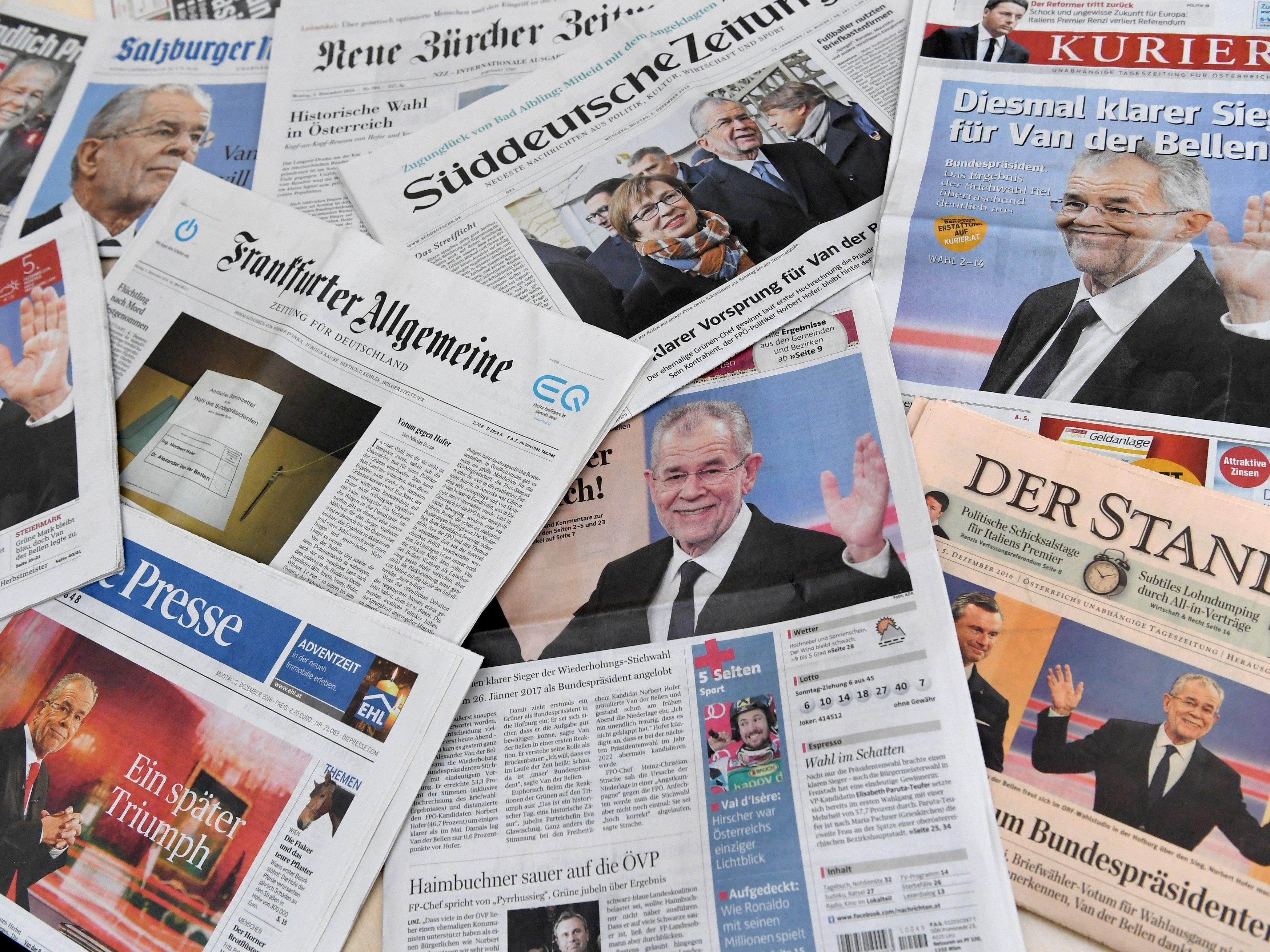 Das Thema der österreichischen Bundespräsidentenwahl beherrschte 2016 die Medien