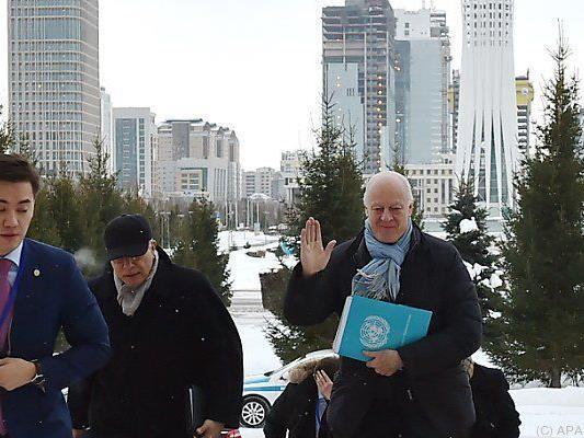 UNO-Delegierter Staffan de Mistura nimmt teil