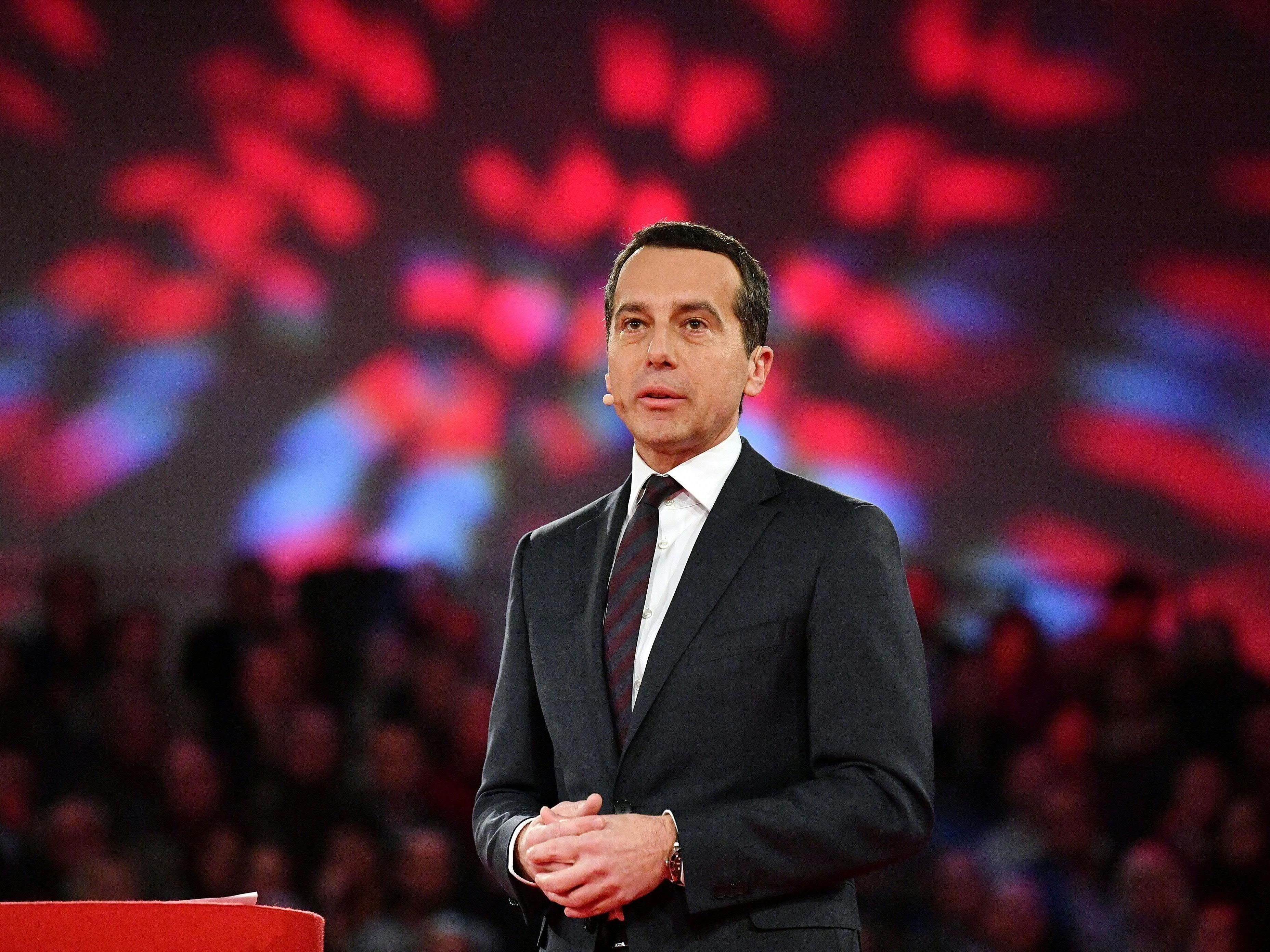Bundeskanzler Christian Kern besuchte eine HAK in Simmering.