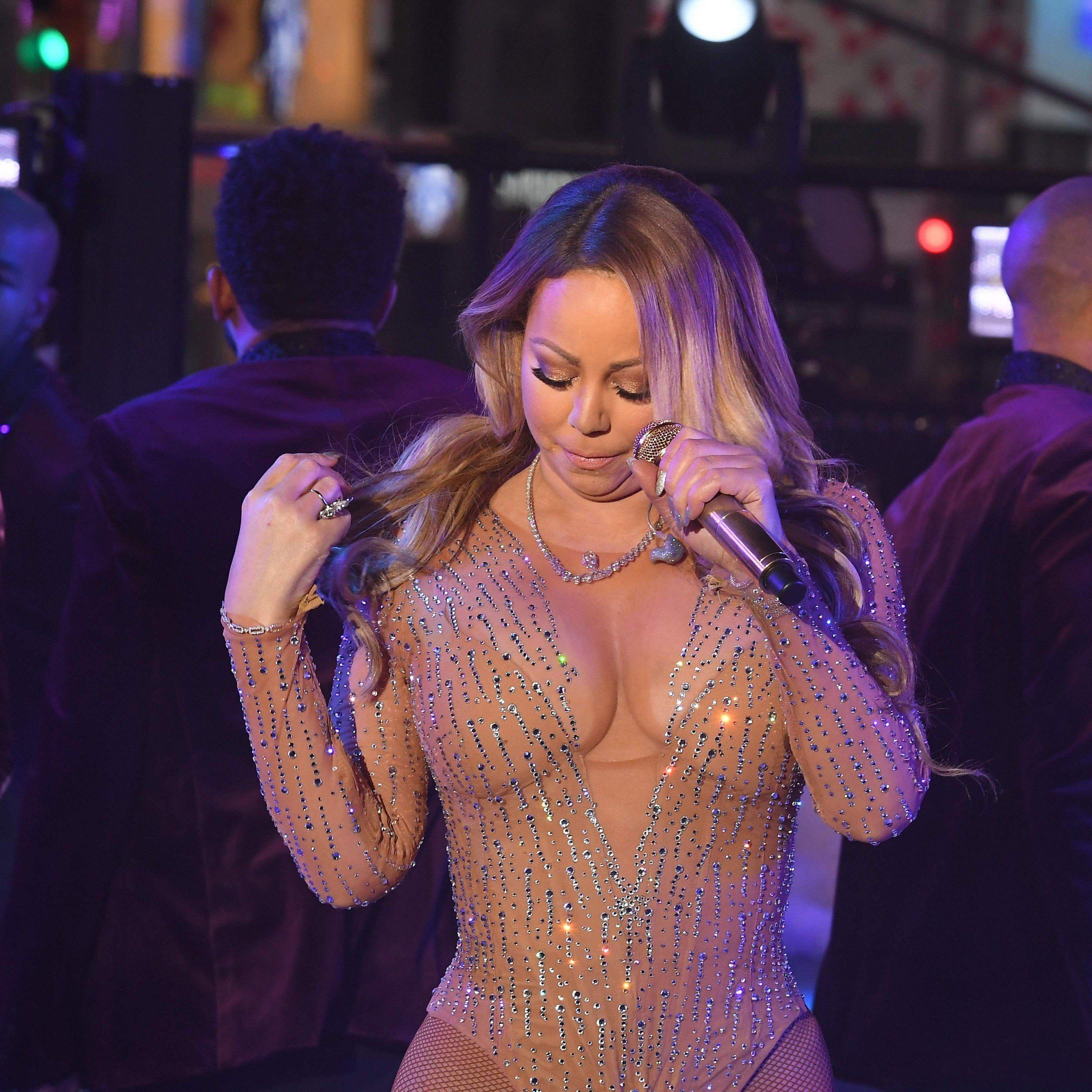 Mariah Carey bei ihrem peinlichen Auftritt zu Silvester.
