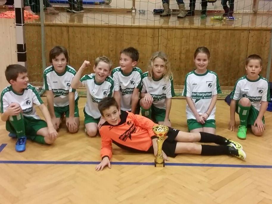 Das siegreiche U11-Team vom FC Alberschwende.