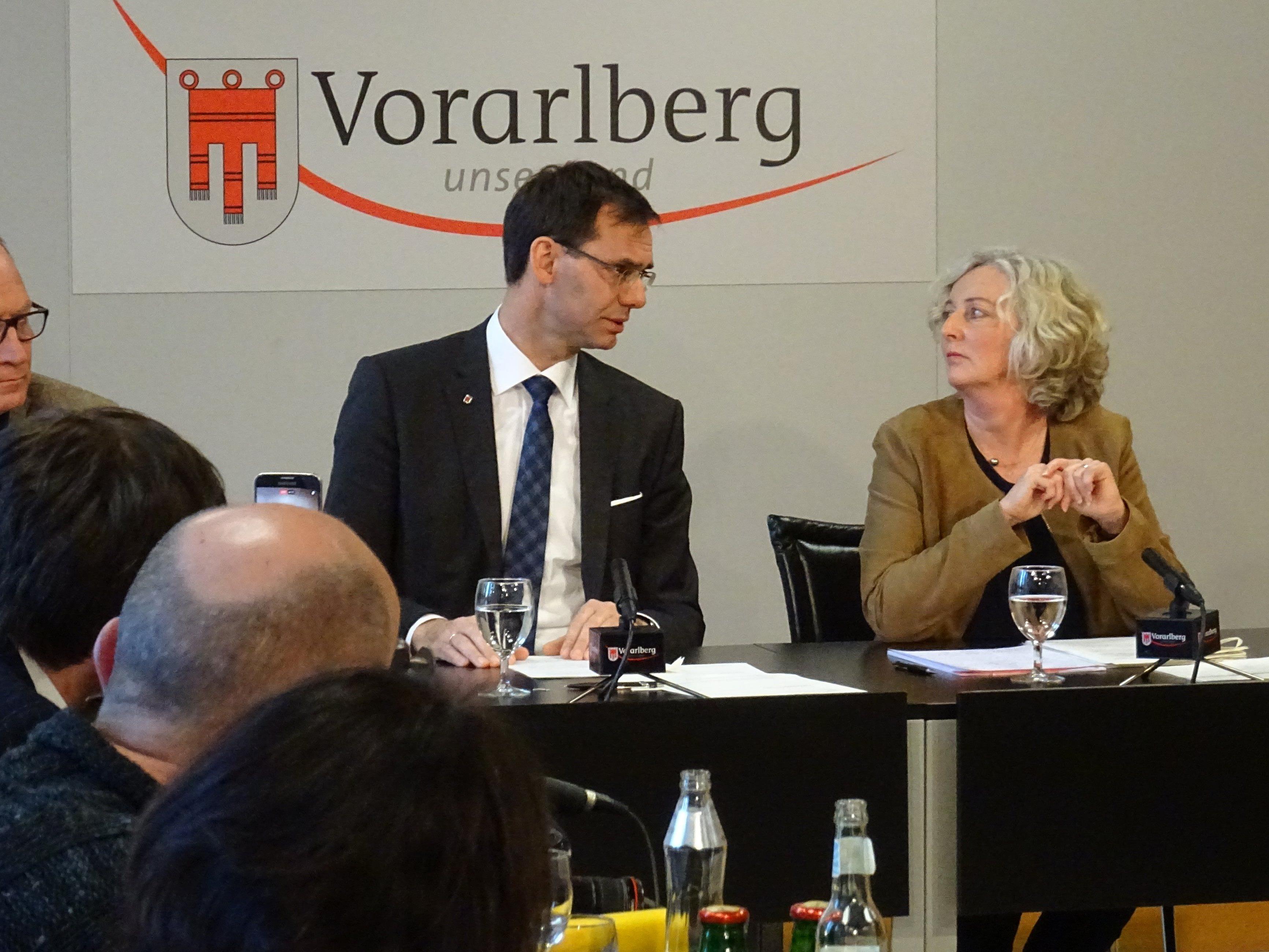Landeshauptmann Markus Wallner und Soziallandesrätin Katharina Wiesflecker haben im heutigen (Dienstag, 17. Jänner) Pressefoyer die Neuregelung bei der Mindestsicherung vorgestellt.