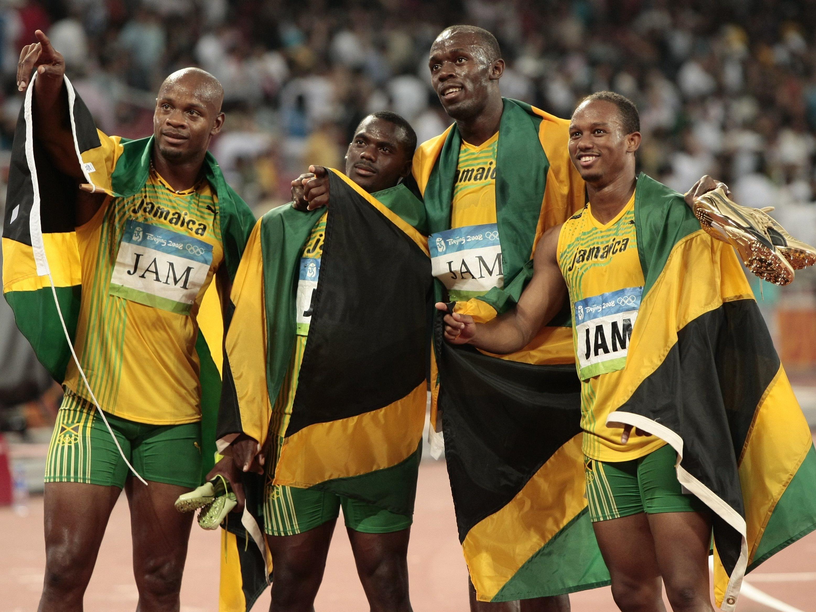Jamaikas Sprintstaffel verliert die Goldmedaille von 2008.