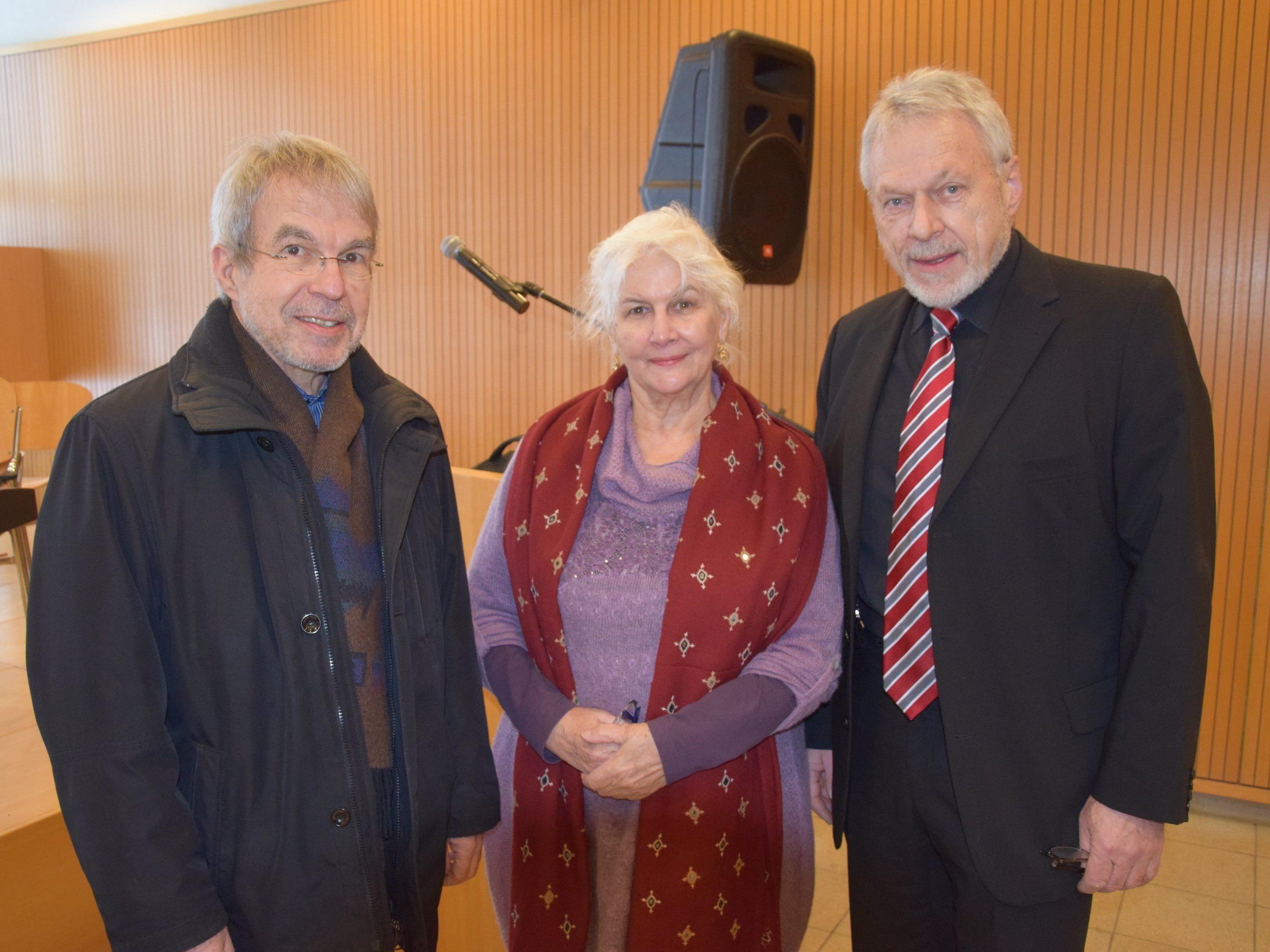 Gäste beim 23. Neujahrskonzert. v.l. Armin Greußing, Marlies Küng-Rüdisser & Jose Oberhauser