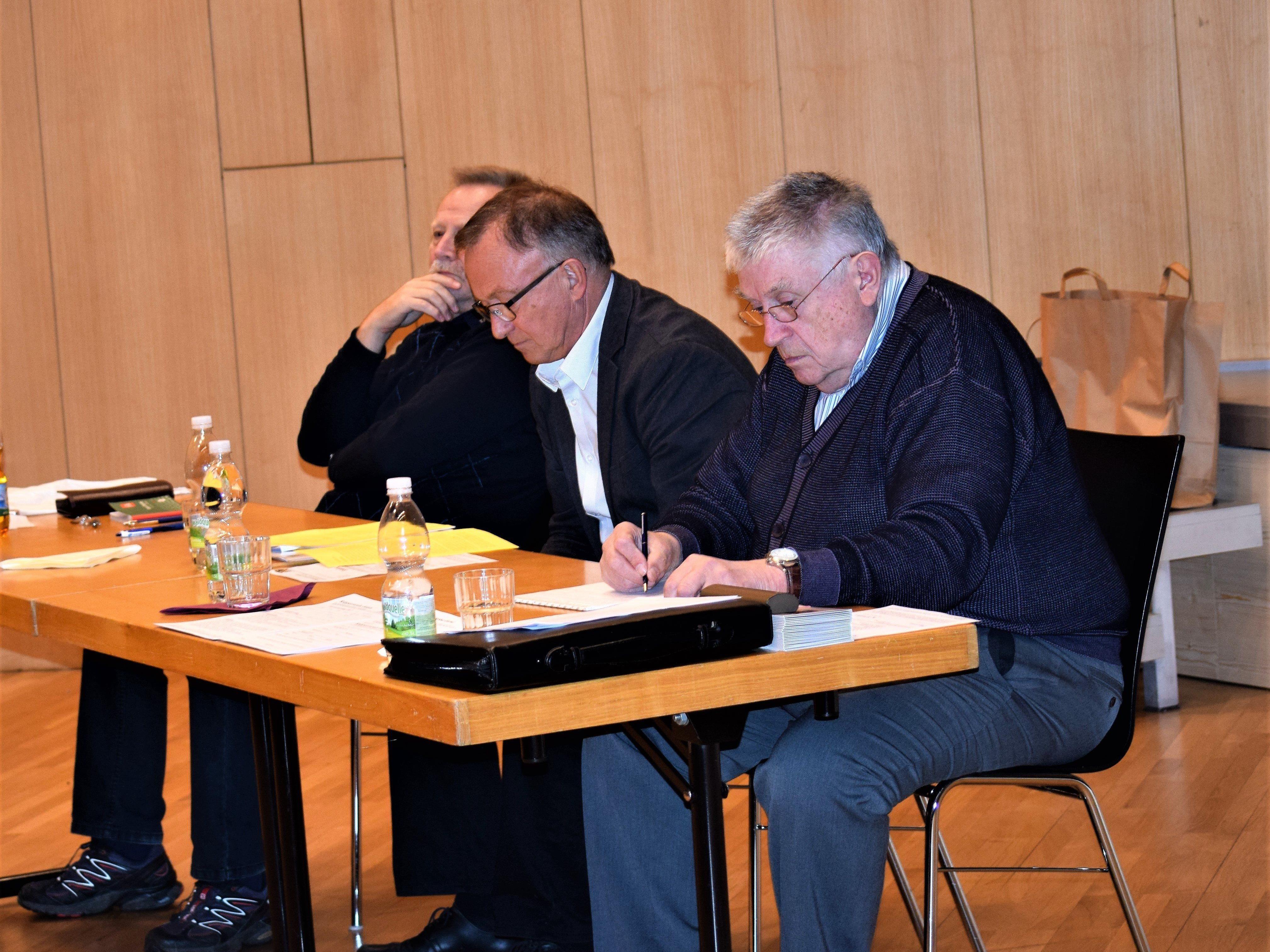 Kassier, Obmann und Schriftführer