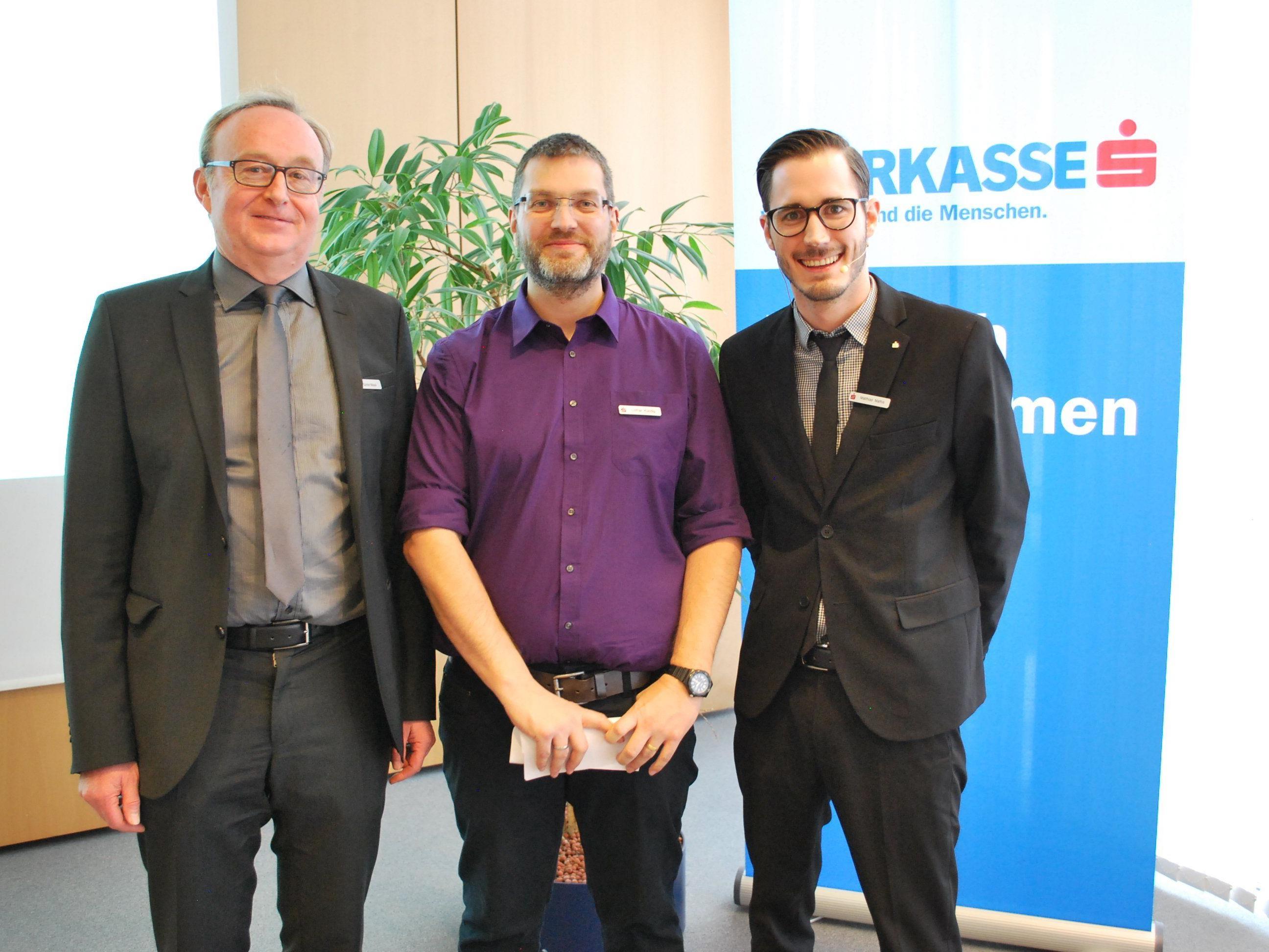 Sie sorgten für ein interessantes Seminar: Günter Masal, Lothar Kündig, Matthias Mathis (vl)
