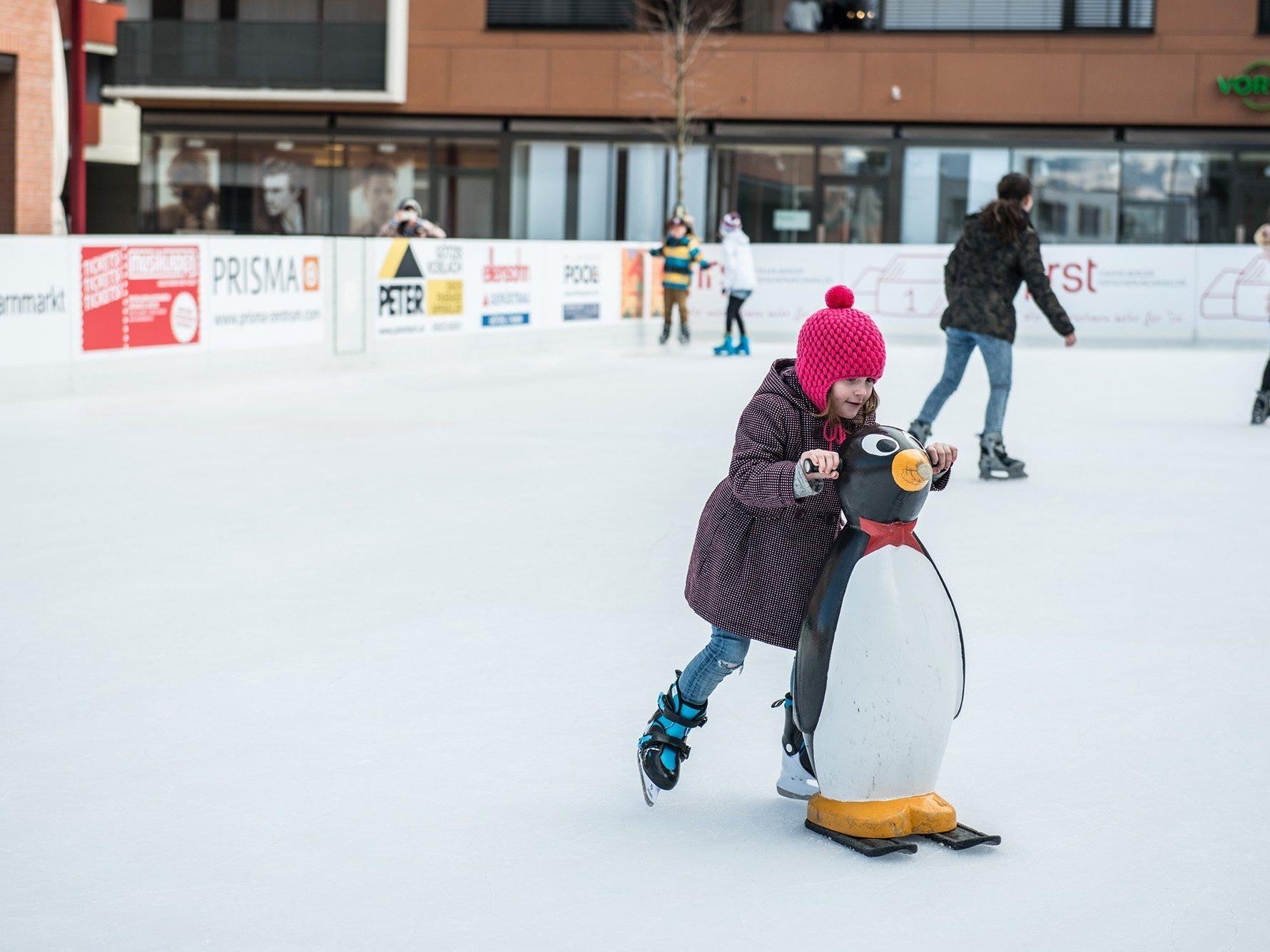 Am Freitag, 20. Jänner wird der Eislaufplatz in der Mitte Am Garnmarkt eröffnet