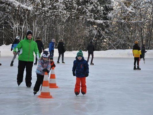Eislaufen in Hinterplärsch.
