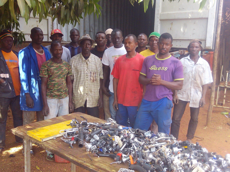 Reperaturwerkstatt in Burkina Faso