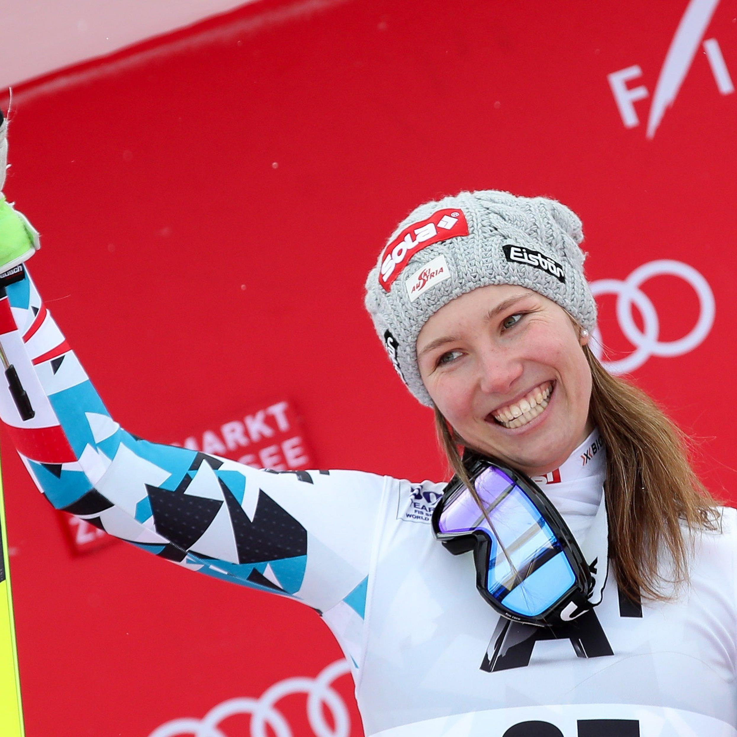 Christine Scheyer hat sich in Zauchensee den Abfahrtssieg gesichert.